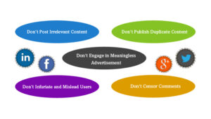 Top 5 Don'ts for Brands on Social Media